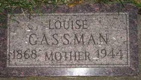GASSMAN, LOUISE - Miner County, South Dakota | LOUISE GASSMAN - South Dakota Gravestone Photos