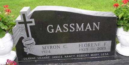 STALEY GASSMAN, FLORENE FAY - Miner County, South Dakota | FLORENE FAY STALEY GASSMAN - South Dakota Gravestone Photos