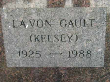 KELSEY GAULT, LAVON - Miner County, South Dakota | LAVON KELSEY GAULT - South Dakota Gravestone Photos