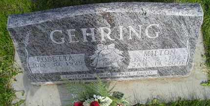GEHRING, ROSETTA - Miner County, South Dakota | ROSETTA GEHRING - South Dakota Gravestone Photos