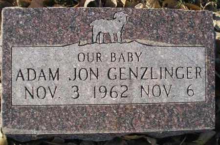 GENZLINGER, ADAM JON - Miner County, South Dakota | ADAM JON GENZLINGER - South Dakota Gravestone Photos