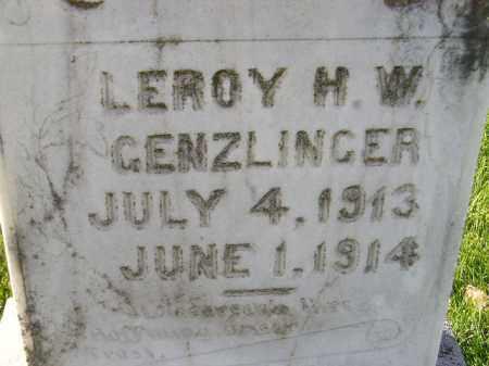 GENZLINGER, LEROY H.W. - Miner County, South Dakota | LEROY H.W. GENZLINGER - South Dakota Gravestone Photos