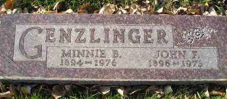 GENZLINGER, JOHN F. - Miner County, South Dakota | JOHN F. GENZLINGER - South Dakota Gravestone Photos