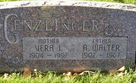 GENZLINGER, A. WALTER - Miner County, South Dakota | A. WALTER GENZLINGER - South Dakota Gravestone Photos