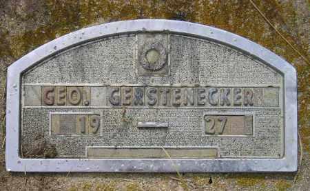GERSTENECKER, GEO. - Miner County, South Dakota | GEO. GERSTENECKER - South Dakota Gravestone Photos