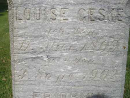 GESKE, LOUISE - Miner County, South Dakota | LOUISE GESKE - South Dakota Gravestone Photos