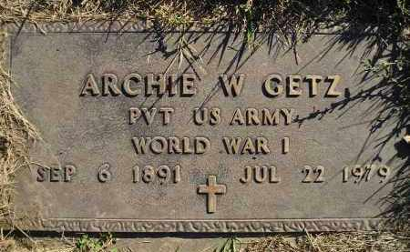 GETZ, ARCHIE W. (WW I) - Miner County, South Dakota | ARCHIE W. (WW I) GETZ - South Dakota Gravestone Photos