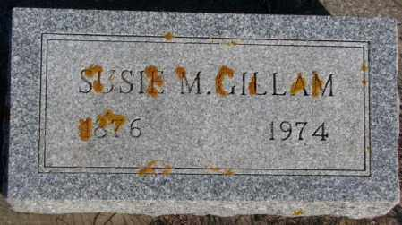 GILLAM, SUSIE M. - Miner County, South Dakota | SUSIE M. GILLAM - South Dakota Gravestone Photos