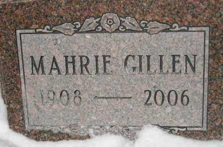 GILLEN, MAHRIE - Miner County, South Dakota | MAHRIE GILLEN - South Dakota Gravestone Photos