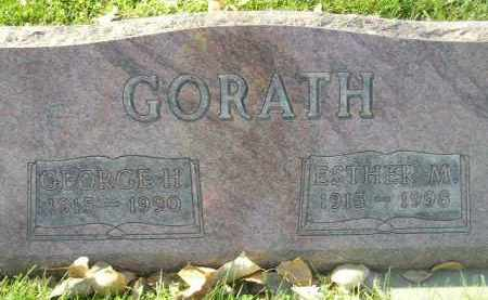 GORATH, ESTHER M. - Miner County, South Dakota | ESTHER M. GORATH - South Dakota Gravestone Photos