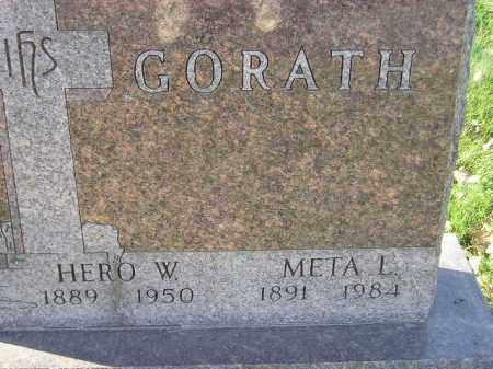 GORATH, HERO W. - Miner County, South Dakota | HERO W. GORATH - South Dakota Gravestone Photos