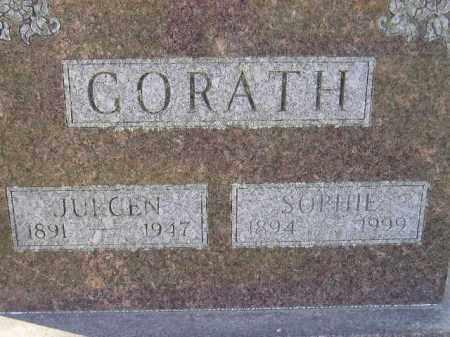 GORATH, JURGEN - Miner County, South Dakota | JURGEN GORATH - South Dakota Gravestone Photos
