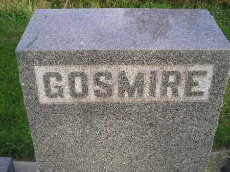 GOSMIRE, FAMILY STONE - Miner County, South Dakota | FAMILY STONE GOSMIRE - South Dakota Gravestone Photos