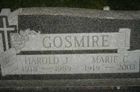 GOSMIRE, MARIE C. - Miner County, South Dakota | MARIE C. GOSMIRE - South Dakota Gravestone Photos