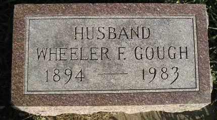 GOUGH, WHEELER F. - Miner County, South Dakota | WHEELER F. GOUGH - South Dakota Gravestone Photos