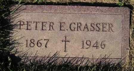 GRASSER, PETER E. - Miner County, South Dakota   PETER E. GRASSER - South Dakota Gravestone Photos