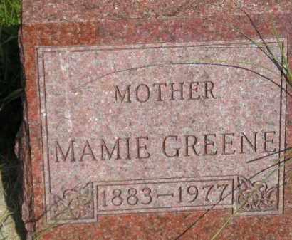 GREENE, MAMIE - Miner County, South Dakota | MAMIE GREENE - South Dakota Gravestone Photos