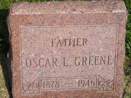 GREENE, OSCAR L. - Miner County, South Dakota | OSCAR L. GREENE - South Dakota Gravestone Photos