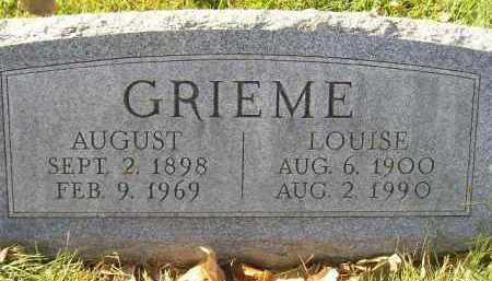 GRIEME, AUGUST - Miner County, South Dakota | AUGUST GRIEME - South Dakota Gravestone Photos
