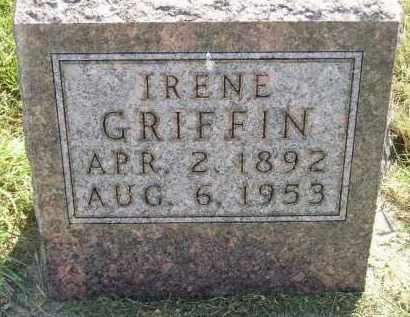 GRIFFIN, IRENE - Miner County, South Dakota   IRENE GRIFFIN - South Dakota Gravestone Photos