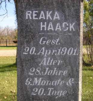 HAACK, REAKA - Miner County, South Dakota | REAKA HAACK - South Dakota Gravestone Photos