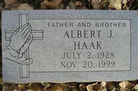 HAAK, ALBERT J. - Miner County, South Dakota | ALBERT J. HAAK - South Dakota Gravestone Photos