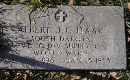 HAAK, ALBERT J.C. - Miner County, South Dakota | ALBERT J.C. HAAK - South Dakota Gravestone Photos