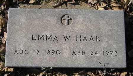 HAAK, EMMA W. - Miner County, South Dakota   EMMA W. HAAK - South Dakota Gravestone Photos