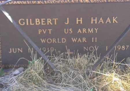 HAAK, GILBERT J.H. (WW II) - Miner County, South Dakota | GILBERT J.H. (WW II) HAAK - South Dakota Gravestone Photos