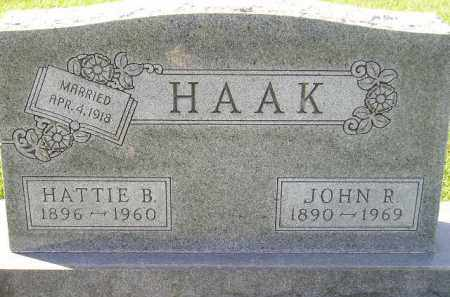 HAAK, HATTIE B. - Miner County, South Dakota | HATTIE B. HAAK - South Dakota Gravestone Photos