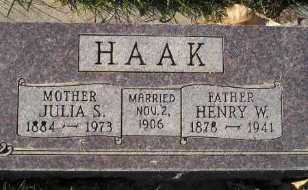 HAAK, JULIA S. - Miner County, South Dakota | JULIA S. HAAK - South Dakota Gravestone Photos