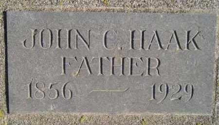 HAAK, JOHN C. - Miner County, South Dakota   JOHN C. HAAK - South Dakota Gravestone Photos