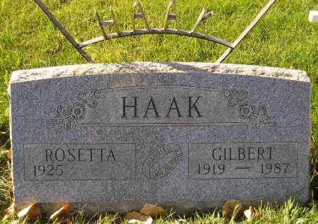 HAAK, GILBERT - Miner County, South Dakota | GILBERT HAAK - South Dakota Gravestone Photos