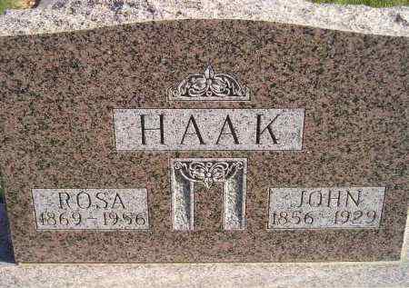 HAAK, ROSA - Miner County, South Dakota | ROSA HAAK - South Dakota Gravestone Photos