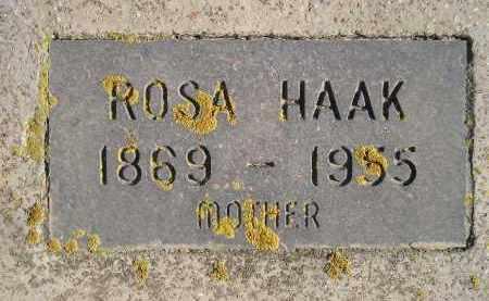 HAAK, ROSA - Miner County, South Dakota | ROSA HAAK - South Dakota Gravestone Photos