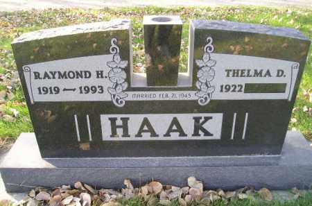 HAAK, THELMA DORIS HALL - Miner County, South Dakota | THELMA DORIS HALL HAAK - South Dakota Gravestone Photos