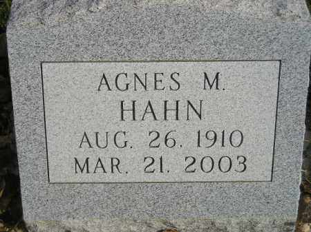 HAHN, AGNES M. - Miner County, South Dakota | AGNES M. HAHN - South Dakota Gravestone Photos