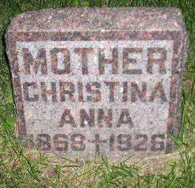 HAHN, CHRISTINA ANNA - Miner County, South Dakota | CHRISTINA ANNA HAHN - South Dakota Gravestone Photos