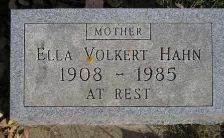 VOLKERT HAHN, ELLA - Miner County, South Dakota | ELLA VOLKERT HAHN - South Dakota Gravestone Photos