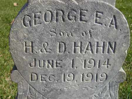 HAHN, GEORGE E.A. - Miner County, South Dakota   GEORGE E.A. HAHN - South Dakota Gravestone Photos