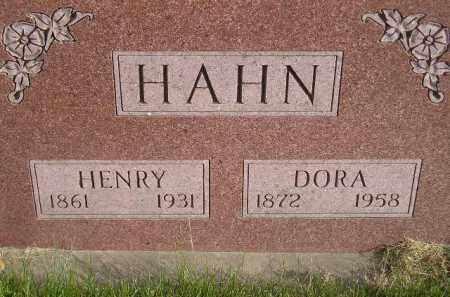 HAHN, DORA - Miner County, South Dakota   DORA HAHN - South Dakota Gravestone Photos