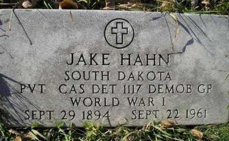HAHN, JAKE - Miner County, South Dakota | JAKE HAHN - South Dakota Gravestone Photos