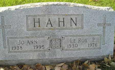 HAHN, JO ANN - Miner County, South Dakota | JO ANN HAHN - South Dakota Gravestone Photos