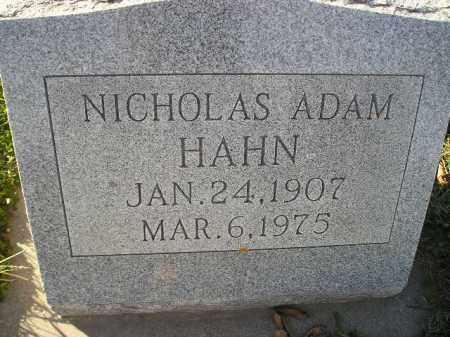 HAHN, NICHOLAS ADAM - Miner County, South Dakota | NICHOLAS ADAM HAHN - South Dakota Gravestone Photos