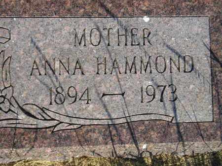 HAMMOND, ANNA - Miner County, South Dakota | ANNA HAMMOND - South Dakota Gravestone Photos