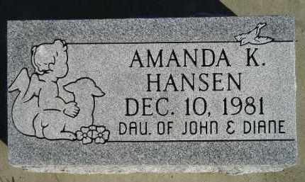 HANSEN, AMANDA K. - Miner County, South Dakota | AMANDA K. HANSEN - South Dakota Gravestone Photos