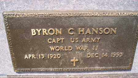 HANSON, BYRON C. (WW II) - Miner County, South Dakota | BYRON C. (WW II) HANSON - South Dakota Gravestone Photos