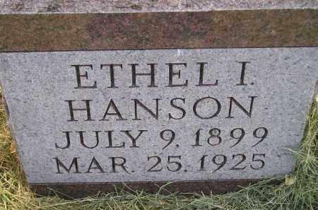 HANSON, ETHEL I. - Miner County, South Dakota | ETHEL I. HANSON - South Dakota Gravestone Photos