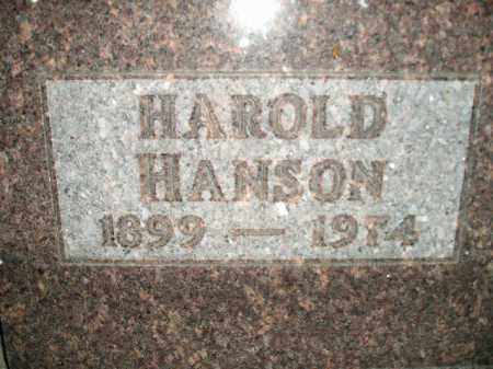 HANSON, HAROLD - Miner County, South Dakota | HAROLD HANSON - South Dakota Gravestone Photos