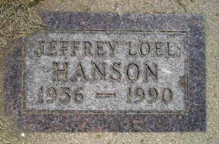 HANSON, JEFFREY LOEL - Miner County, South Dakota | JEFFREY LOEL HANSON - South Dakota Gravestone Photos